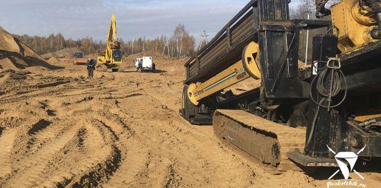 Строящаяся Ж/Д станция «Нахабино» (Московская область)