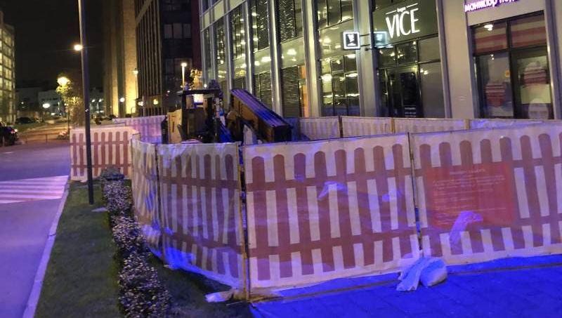 Размещение буровой установки на строительной площадке